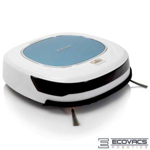 Robô Aspirador de Pó Ecovacs Robotics com Capacidade de 0,4 Litros e Tripla Função Branco e Azul