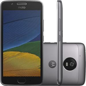 """Smartphone Moto G 5 Dual Chip Android 7.0 Tela 5"""" 32GB 4G Câmera 13MP - Platinum por R$ 696"""