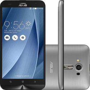 """Smartphone Asus Zenfone 2 Laser Dual Chip Tela 6"""" 32GB Câmera 13MP - Prata/Vermelho/Dourado - R$ 626,99"""