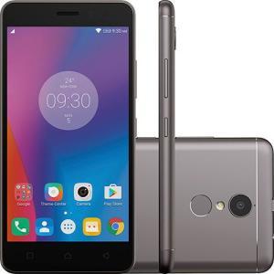 """Smartphone Lenovo Vibe K6 Dual Chip Android Tela 5"""" 32GB 4G Câmera 13MP - Grafite por R$ 674"""