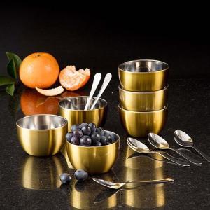 Conjunto de Sobremesa Gold em Aço Inox 12 Peças - La Cuisine - Por R$ 49,99