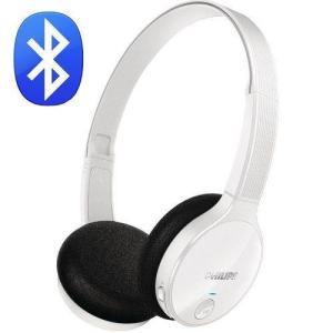 Fone De Ouvido Headset Estéreo Bluetooth Philips Shb4000wt - Branco - R$94