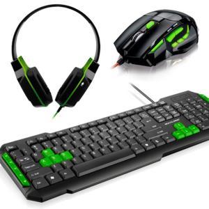 Combo Multilaser - Teclado multimídia TC201 + Mouse Óptico 2400Dpi + Headset PH146 - R$94,90
