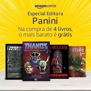 Na compra de 4 livros da Panini, o mais barato é grátis