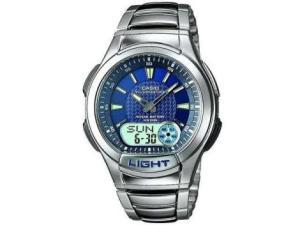Relógio Masculino Casio Anadigi - Resistente à Água Cronômetro Mundial AQ-180WD-2AV - R$162