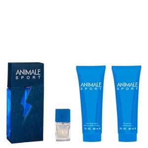 Animale Sport Eau de Toilette Animale - Perfume Masculino + Miniatura + Pós Barba + Gel de Banho Kit - R$217