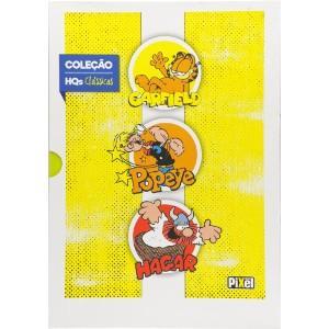 Box Hqs Classicos - Vol 1 - Garfield, Popeye e Hagar - Pixel - R$10,07