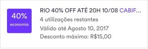 CABIFY 40% OFF RJ
