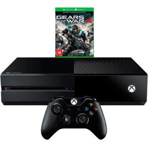 Console Xbox One 500GB + Game Gears of War 4 (via download) + Controle Sem Fio - Microsoft por R$ 1148