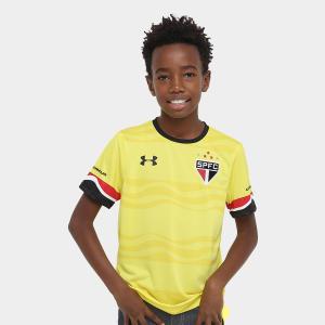 Camisa Under Armour São Paulo III 16/17 s/nº Infantil - Amarelo e Preto por R$ 40