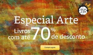 Especial Arte na Amazon, livros com até 70% OFF