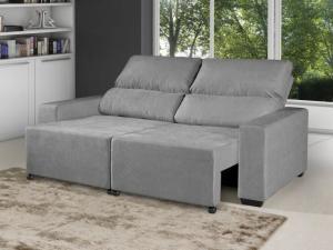 Sofá Retrátil Reclinável 3 Lugares Suede Elegance - R$ 656