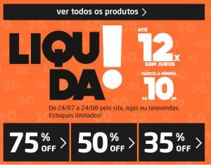 Liquidação Tok&Stok, até 75% OFF