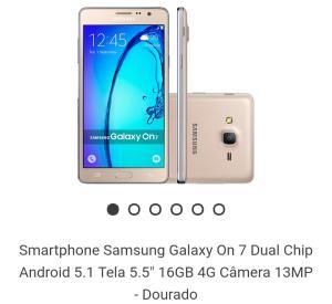 Galaxy On7 (boleto 10% + Cupom 5%)