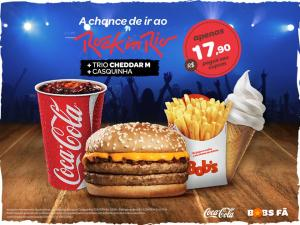 trio CHEDDAR M + casquinha + a chance de ir no Rock in Rio - R$18