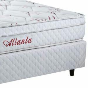 Cama Box + Colchão Atlanta Bambu Casal Mola Bonnel c/ PillowTop 1,38 x 1,88cm - Herval