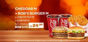 PROMOÇÃO TRIO M CHEDDAR + TRIO M BOB'S BURGUER POR R$ 24,90