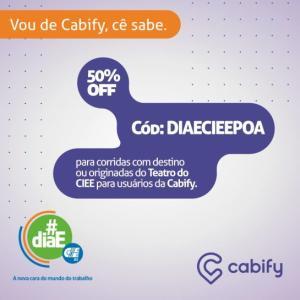 CABIFY POA- 2 viagens 50%