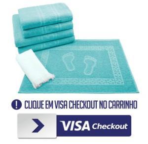 [Visa Checkout] Jogo de Banho 6 peças Toalhas 100% Algodão 250 g/m² - R$ 1,99