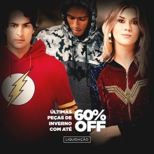20% de desconto na loja toda da DC COMICS
