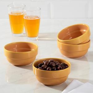 Conjunto de Tigelas em Cerâmica Refratária 4 Peças 14 cm Amarela - La Cuisine - R$10,00