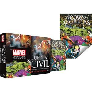 Box - Marvel: Guerra Civil e Guerras Secretas (Edição Slim) + Pôster - R$10