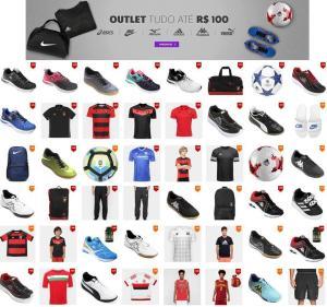 Outlet Netshoes Grandes Marcas, preço máximo R$100
