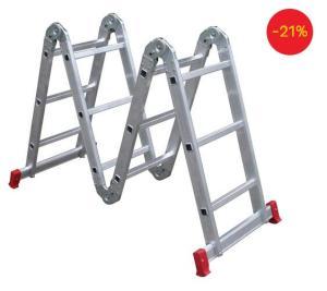 Escada Articulada 13 em 1 Botafogo - 3x4 - 12 degraus - R$ 208
