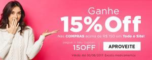 15% Todo o site Netfarma em compras acima de R$150