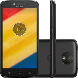 "Smartphone Motorola Moto C Plus Dual Chip Android 7.0 Nougat Tela 5"" Quad-Core 1.3GHz 8GB 4G Câmera 8MP - Preto"