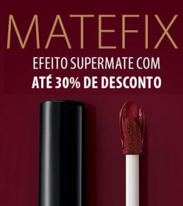 Batom Líquido Matte Matefix Eudora - R$24,99