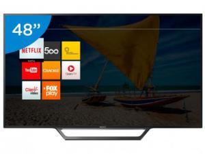 "Smart TV LED 48"" Sony Full HD KDL-48W655D - R$2.199"