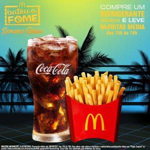 Compre refrigerante 500ml e ganhe uma McFritas média