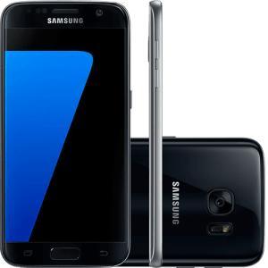"Smartphone Samsung Galaxy S7 Android 6.0 Tela 5.1"" 32GB 4G Câmera 12MP - Preto - R$ 1543"