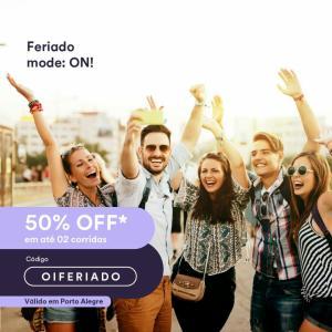 Cabify POA 50% off ATÉ R$ 10 em duas corridas