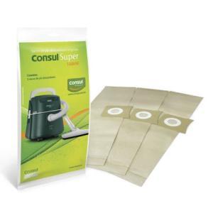 Kit com 3 Sacos de Pó para o Modelo Super Consul - CIZ03AX Gratis (paga o frete)
