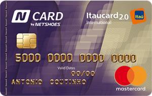 N CARD (cartão Netshoes) com 1 ano de anuidade grátis.