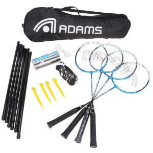 Kit de Badminton Adams Titanium 80 - 4 Raquetes, 3 Petecas, 1 Rede e 1 Raqueteira por R$ 80