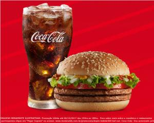 Mc Donald's Bateu a Fome (15 às 18h) - Duplo Salada + Bebida Média - R$9,50