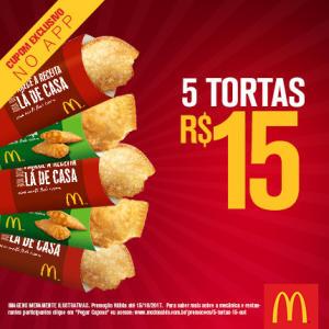 5 tortas por R$15 no McDonald's