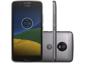 "Smartphone Motorola Moto G5 32GB - Dual Chip 4G Câm. 13MP + Selfie 5MP Tela 5"" - R$646"