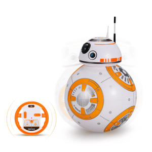 Robô de controle remoto BB-8 2.4GHz RC Robot Ball Remote Control Planet Boy with Sound Star Wars Toy - R$51
