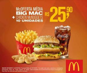 Oferta Média Big Mac + Nuggets 10un = 25,90