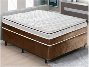 Cama Box Casal (Box + Colchão) LightSpuma - Ensacadas/Pocket 113cm de Altura Excellence - R$ 569