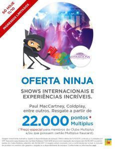 Shows internacionais e experiências incríveis a partir de 22.000 PONTOS!