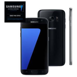 """Smartphone Samsung Galaxy S7 Preto com 32GB, Tela 5.1"""", 4G, Câmera 12MP - R$ 1710"""