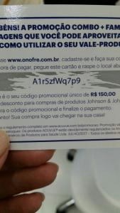 Bug - 150 reais de desconto nos produtos johnsons, neutrogena, clean&clear, La RoC, sempre livre, carefree e sundown