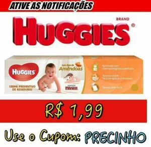 Creme Preventino De Assaduras Huggies Com Óleo De Amêndoas - 80g - R$2