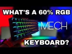 Teclado Mecânico - 61 Key ANSI Layout Perfil OEM PBT Thick Keycaps R$60