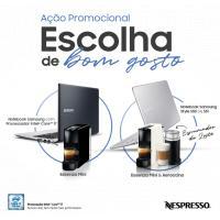 Na compra de um notebook Samsung, ganhe uma máquina de café Nespresso